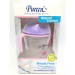 เพียวรีน Pureen ขวดนมคอกว้างพร้อมมือจับ รุ่น Natural Comfort 8 ออนซ์ สีชมพู