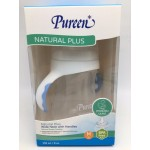 เพียวรีน Pureen ขวดนม&จุกนมคอกว้างพร้อมมือจับสีน้ำเงิน รุ่น Natural Plus 8 oz. สำหรับเด็ก 3 เดือนขึ้นไป