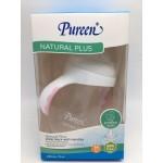 เพียวรีน Pureen ขวดนม&จุกนมคอกว้างพร้อมมือจับสีชมพู รุ่น Natural Plus 8 oz. สำหรับเด็ก 3 เดือนขึ้นไป
