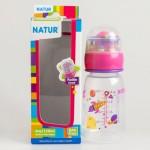 เนเจอร์ Natur ขวดนม  รุ่นสเปซซิป 4 oz. สีชมพู ไซส์M สำหรับ 3 เดือนขึ้นไป