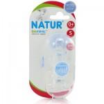 เนเจอร์ Natur จุกนมBiominic ปากมาตรฐาน ไซส์ S แพ็คคู่ สำหรับ 0 เดือน+