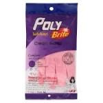 โพลีไบรท์ Poly Brite  ถุงมือยางธรรมชาติรุ่น COMFORT ( Size M )