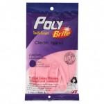 โพลีไบรท์ Poly Brite  ถุงมือยางธรรมชาติรุ่น COMFORT ( Size L )