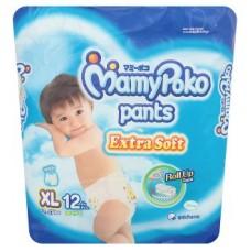 มามี่โพโค Mamy Poko Pants Extra Soft  ไซส์ XL สำหรับเด็กผู้ชาย ห่อ 12 ชิ้น (กางเกง)
