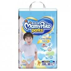 มามี่โพโค Mamy Poko Pants Extra Soft  ไซส์ XXL สำหรับเด็กผู้ชาย ห่อ 38 ชิ้น (กางเกง)