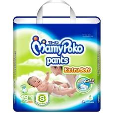 มามี่โพโค Mamy Poko Pants Extra Soft  ไซส์ S ห่อ 19 ชิ้น (กางเกง)