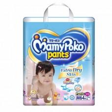 มามี่โพโค Mamy Poko Pants Extra Soft ไซส์ M สำหรับเด็กผู้หญิง ห่อ 64 ชิ้น (กางเกง)