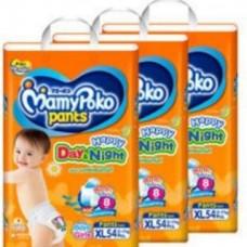 ขายยกลัง (3 ห่อ) มามี่โพโค Mamy Poko Day&Night ไซส์ XL ห่อ 54 ชิ้น (กางเกง)