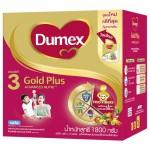 ดูเม็ก Dumex โกลด์พลัส แอดวานซ์ นิวทรี รสจืด สูตร 3 1,800 กรัม