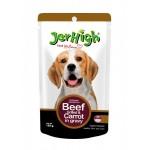 Jerhigh ชนิดเปียก รสเนื้อวัวย่างและแครอทในน้ำเกรวี่ 120 g