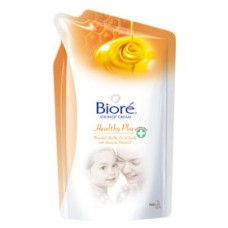 Biore Shower Cream Healthy Plus 220 ml ถุงเติม