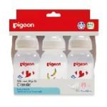 พีเจ้น Pigeon ขวดนม RPP โมเดิร์น 4 oz จุกคลาสสิค ไซส์ S แพ็ค 3 สำหรับ 0-3 เดือน
