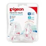 พีเจ้น Pigeon จุกเสมือนนมมารดา รุ่นมินิ ไซส์ Y สำหรับ 6,7 เดือน+ แพ็ค 4