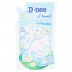 ดีนี่ D-nee ผลิตภัณฑ์ซักผ้าเด็ก ดีนี่ ไลฟ์ลี่ ไบร์ทแอนด์ไวท์ ถุงเติม 600 มล.