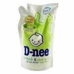 ดีนี่ D-nee ผลิตภัณฑ์ซักผ้าเด็ก ดีนี่ Organic Aloe Vera ถุงเติม 600 มล.