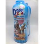ดีนี่ D-nee คิดส์ แป้งเด็ก กลิ่นสตรอเบอร์รี่ เชียร์(น้ำเงิน) 400 กรัม แพ็คคู่