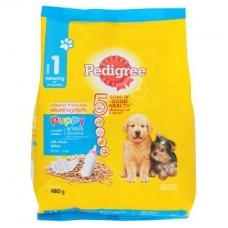 Pedigree ชนิดเม็ด สำหรับลูกสุนัข รสนม สูตรหย่านม 480 g