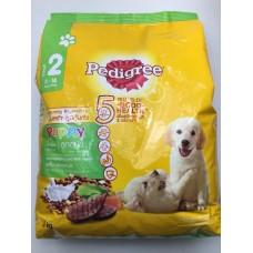Pedigree ชนิดเม็ด รสตับ ผักและนม 3 kg สำหรับลูกสุนัข
