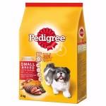 Pedigree ชนิดเม็ด รสเนื้อวัว เนื้อแกะและผัก 480 g สำหรับสุนัขพันธุ์เล็ก