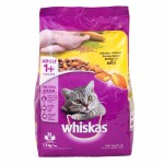 Whiskas ชนิดเม็ด รสไก่ 1.2 kg สูตรแมวโต