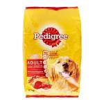 Pedigree ชนิดเม็ด รสเนื้อวัวและผัก 10 kg สำหรับสุนัขโตเต็มวัย