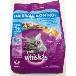 Whiskas ชนิดเม็ด สูตรควบคุมก้อนขน 450 g สำหรับอายุ 1 ปี ขึ้นไป