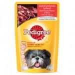 Pedigree ชนิดเปียก รสเนื้อวัวชิ้นในน้ำเกรวี่ 130 g