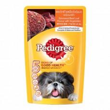 Pedigree ชนิดเปียก รสเนื้อวัวตุ๋นบดพร้อมผัก 130 g