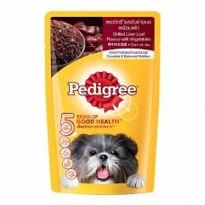 Pedigree ชนิดเปียก รสตับย่างบดพร้อมผัก 130 g