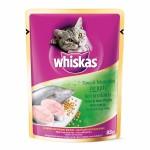 Whiskas ชนิดเปียก รสปลาทูน่าและปลาเนื้อขาว 85 g