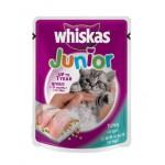 Whiskas Junior ชนิดเปียก รสปลาทูน่า 85 g สำหรับลูกแมว 1-12 เดือน
