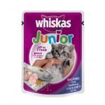 Whiskas Junior ชนิดเปียก รสปลาทู 85 g สำหรับลูกแมว 1-12 เดือน