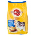 Pedigree ชนิดเม็ด รสเนื้อไก่ ตับและผัก 1.5 kg สำหรับสุนัขพันธุ์เล็ก