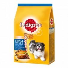 Pedigree ชนิดเม็ด รสเนื้อไก่ ตับและผัก 3 kg สำหรับสุนัขพันธุ์เล็ก