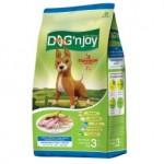 ด็อก เอ็นจอย Dog'n Joy ชนิดเม็ด สำหรับสุนัขโตพันธุ์กลาง-ใหญ่ รสไก่และตับ 3 kg