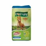 ด็อก เอ็นจอย Dog'n Joy ชนิดเม็ด สำหรับสุนัขโตพันธุ์กลาง-ใหญ่ รสไก่และตับ 20 kg
