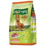 ด็อก เอ็นจอย Dog'n Joy ชนิดเม็ด สำหรับสุนัขโตพันธุ์กลาง-ใหญ่ รสเนื้อ-ตับ 3 kg