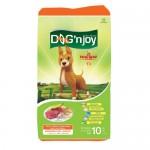 ด็อก เอ็นจอย Dog'n Joy ชนิดเม็ด สำหรับสุนัขโตพันธุ์กลาง-ใหญ่ รสเนื้อ-ตับ 10 kg