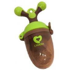 คาเมร่า Camera ซีลิโคนทานผลไม้+นมแม่แช่แข็ง สีเขียวน้ำตาล