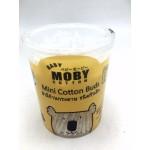 เบบี้ โมบี้ Baby Moby สําลีก้านกระดาษ ชนิดหัวเล็ก 155 ก้าน