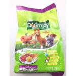 ด็อก เอ็นจอย Dog'n Joy ชนิดเม็ด สำหรับลูกสุนัขทุกสายพันธุ์ รสเนื้อตับอบนมเนย 1.3 kg
