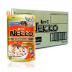 Nekko รสทูน่าหน้าปลาโออบแห้งในเจลลี่ 70 g ต่อซอง จำนวน 12 ซอง