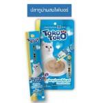 ToroToro ขนมครีมแมวเลีย สูตรปลาทูน่าผสมไฟเบอร์ 15 g x 4 ซอง