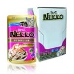 Nekko รสปลาทูน่าหน้ากุ้งและหอยเชลล์ 70 g ต่อซอง จำนวน 12 ซอง