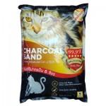 คาร์บอนคลีน Karbon Clean ชาร์โคลแซนด์ ทรายแมวภูเขาไฟเกรดพรีเมี่ยม Charcoal Sand Ultra Premium ไร้ฝุ่น 99.99% (6 ลิตร)