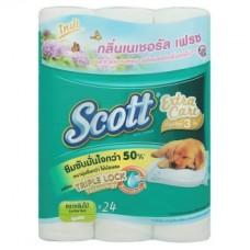 สก๊อตต์ Scott เอ็กซ์ตร้า แคร์ กลิ่นเนเชอรัลเฟรช 24 ม้วน