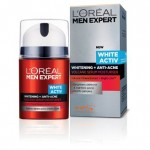 L'OREAL MEN EXPERT WHITE ACTIV WHITENING + ANTI-ACNE VOLCANO SERUM MOISTURISER 50ML