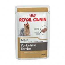 Royal Canin Adult Yorkshire Terrier Pouch ชนิดเปียก สำหรับสุนัขพันธุ์ยอร์คไซร์ 85 กรัม