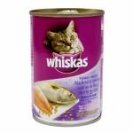 Whiskas ชนิดเปียก รสปลาทูและปลาซาร์ดีน 400 g สำหรับแมวโตอายุ 1 ขึ้นไป
