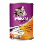 Whiskas ชนิดเปียก รสทะเลรวมมิตร 400 g สำหรับแมวโตอายุ 1 ขึ้นไป